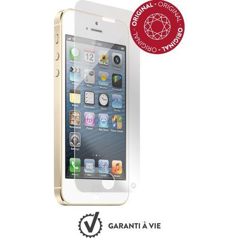 FORCEGLASS Protection d'écran en verre trempé pour iPhone 5/5S/5E/5C Plus et kit de pose