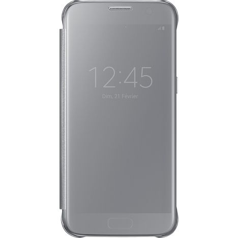 SAMSUNG Etui folio pour Galaxy S8+ Edge - Argent