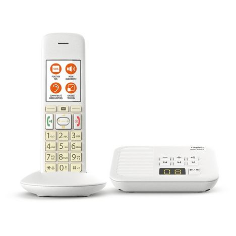 GIGASET Téléphone fixe - E370A - Blanc - Répondeur