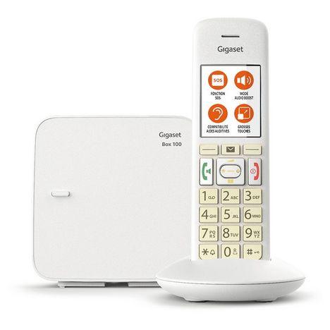 GIGASET Téléphone fixe - E370 - Blanc