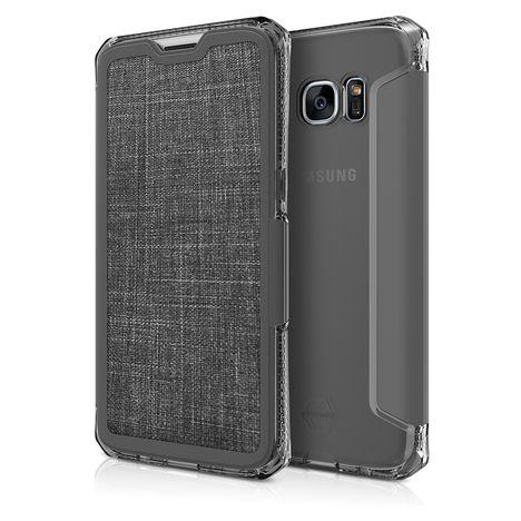 ITSKINS Etui Folio Spectra pour Galaxy S7 Edge- Noir
