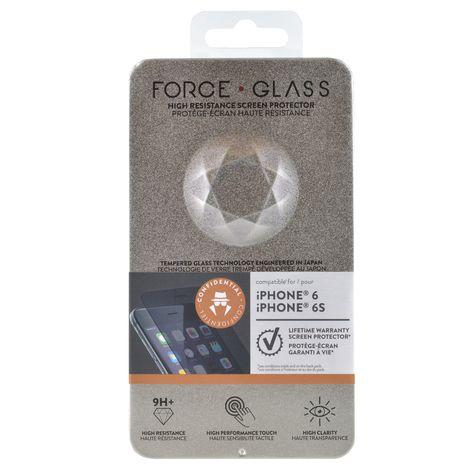 FORCEGLASS Protège-écran en verre trempé Force Glass fumé pour iPhone 6/6S