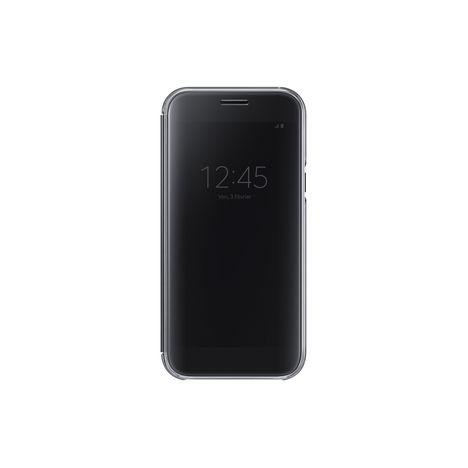 SAMSUNG Etui folio Clear View pour Galaxy A5 A520 2017 - Noir
