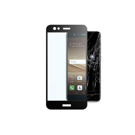 CELLULAR Protection d'écran en verre trempé + contours d'écrans noirs pour Huawei P10 Lite