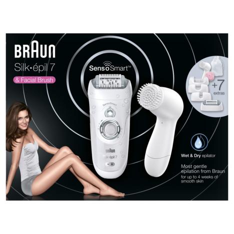BRAUN Epilateur intelligent SE 7-860 Sensor + Brosse faciale