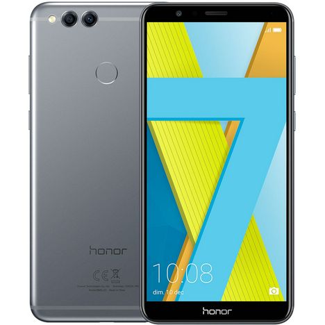 HONOR Smartphone 7X - 64 Go - 5,9 pouces - 4G - Gris