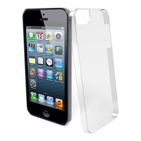 coque transparente iphone 5 5s qilive pas cher prix auchan. Black Bedroom Furniture Sets. Home Design Ideas