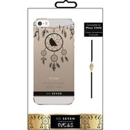 SO SEVEN Coque pour IPhone 5/5S/SE - Transparente Attrape rêves et bracelet