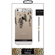 SO SEVEN Coque pour IPhone 5/5S/SE - Motifs plumes et bracelet
