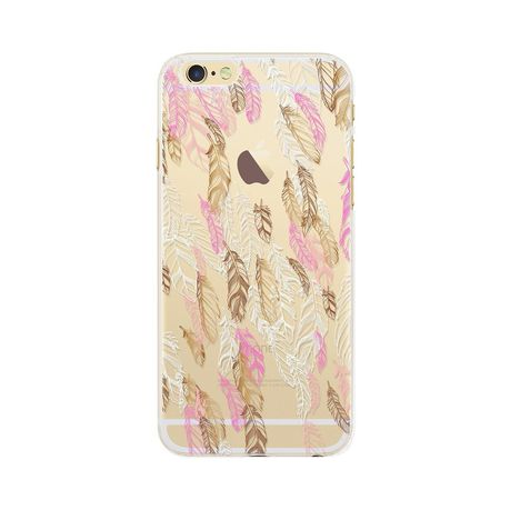 BIGBEN Coque plumes iphone6/6S gold - COVPLUMESIP6G