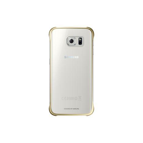 SAMSUNG Coque pour Galaxy S7 EDGE - Transparent et doré