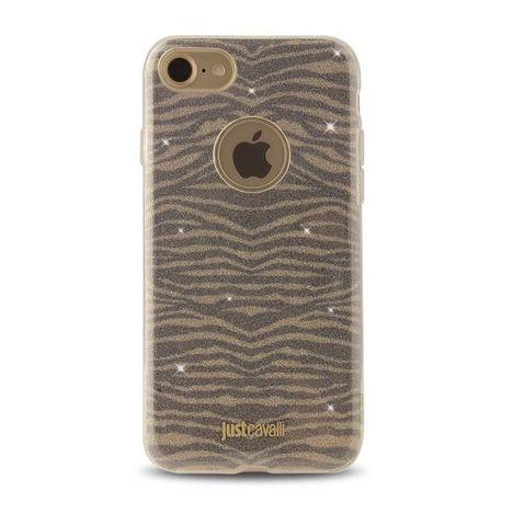 JUST CAVALLI Coque pour iPhone 7 - JUSTCAVALLI COQ ZEBRA OR