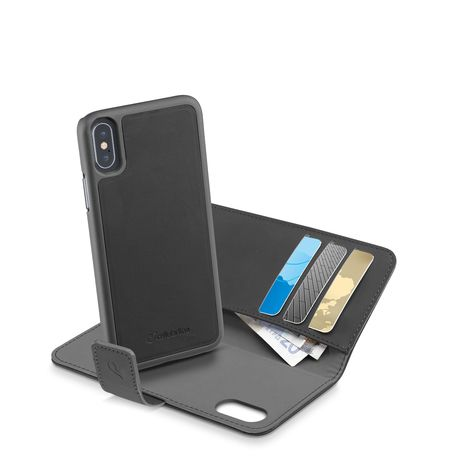 CELLULAR Etui folio pour iPhone 8 - Noir