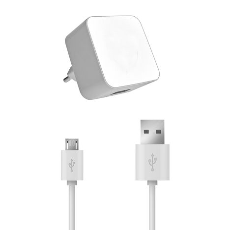 chargeur et cable usb blanc 1a