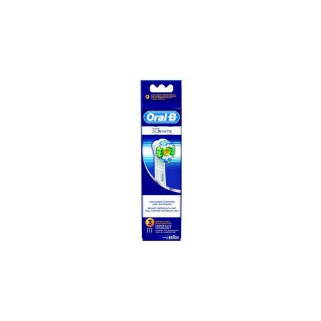 BRAUN accessoires electromenager EB18X3 WHITE Lot de 3 Brossettes 3D White Oral-B