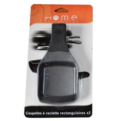 HOME EQUIPEMENT Lot de 2 coupelles à raclette carrées - 95443