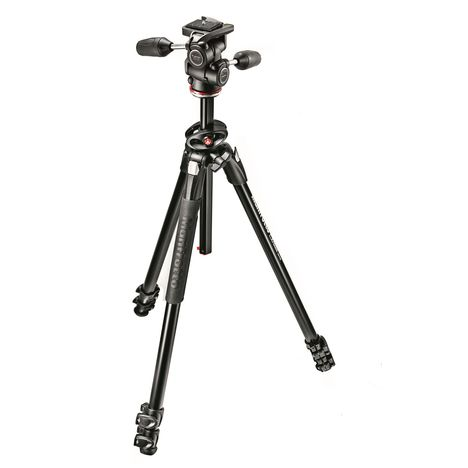 MANFROTTO Trépied aluminium 3 sections + rotule 3D - Noir - MK290DUA3-3W
