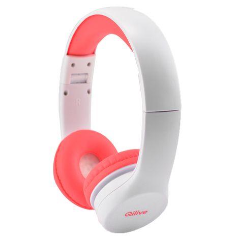 QILIVE Q1092 - Casque audio - Blanc et rose