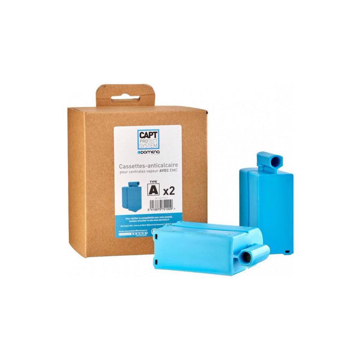 Lot de 2 cassettes anticalcaires pour centrale vapeur Domena avec EMC (type A) - 14180/3