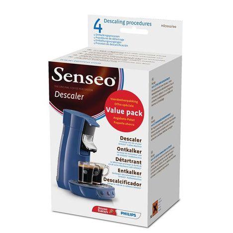 PHILIPS Détartrant machine à café Senseo - 4 doses - PHILIPS HD7012