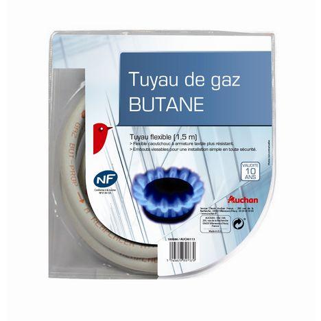 AUCHAN Tuyau de gaz butane flexible 1.5 mètre