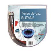 AUCHAN Tuyau de gaz butane inox 1.5 mètres
