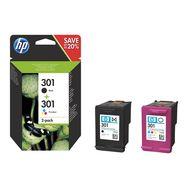 HP Cartouche d'encre N.301 2 Cartouches Noires + Couleurs