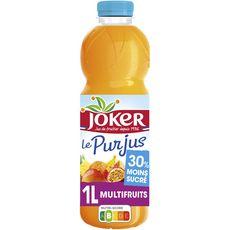 Joker le pur jus naturellement moins sucré multifruits 1l