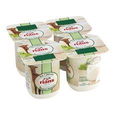 RIANS RIANS Yaourt nature au lait de chèvre 4x120g 4x120g