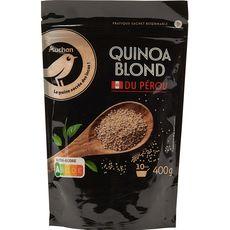 AUCHAN GOURMET Quinoa blond du Pérou sachet refermable prêt en 10 min 400g