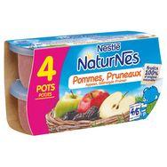 Nestlé Naturnes pomme pruneau 4x130g dès 4 mois