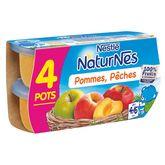 Nestlé Nestlé Naturnes pomme pêche 4x130g dès 4mois
