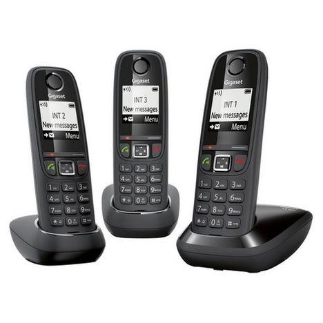 GIGASET Téléphone fixe - AS405 - Noir - TRIO