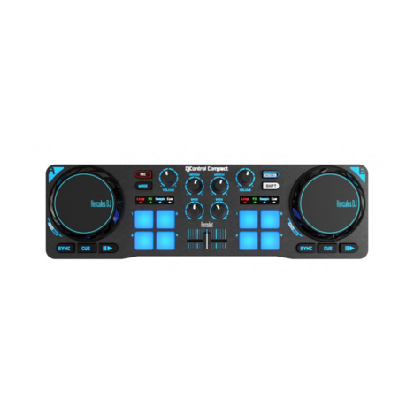 HERCULES Contrôleur DJ compact et portatif