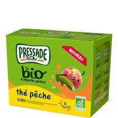 Pressade nectar de thé à la pêche bio 6x20cl