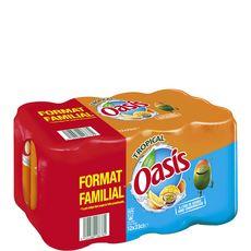 OASIS Oasis Boisson aux fruits goût tropical  boîte slim  12x33cl 12x33cl
