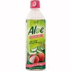 Aloé Drink For Life eau à la pulpe d'aloé véra saveur litchi 500ml