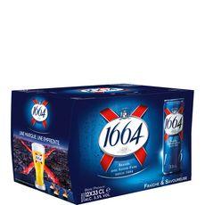1664 bière blonde 5,5° -12x33cl