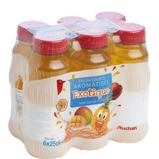 Auchan Eau de source aromatisée exotique bouteilles 6x25cl