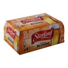 STERLING Bière blonde 4,2% bouteilles 24x25cl