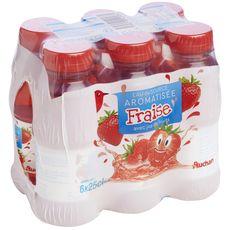Auchan Eau de source aromatisée fraise bouteilles 6x25cl