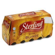 STERLING Bière blonde 4,5% bouteilles 10x25cl