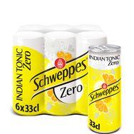 Schweppes zéro indian tonic canette slim 6x33cl