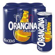 Orangina jaune boîte slim 6x33cl
