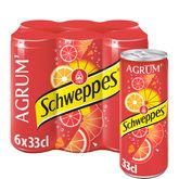 Schweppes agrumes canette slim 6x33cl