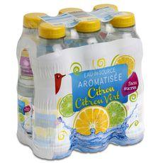 AUCHAN Eau aromatisée citron citron vert bouteilles 6x50cl