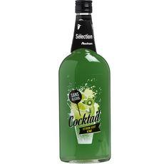AUCHAN Cocktail citron vert kiwi sans alcool 75cl