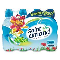 St Amand eau minérale naturelle bouchon sport 12x33cl