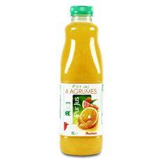 Auchan p'tit déj pur jus 4 agrumes avec pulpe 1l