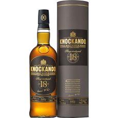KNOCKANDO Scotch whisky single malt écossais Slow Matured 43% 18 ans avec étui 70cl